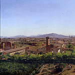 Adolph von Menzel - Panorama. View of S. Giovanni in Laterano