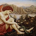 Evelyn De Morgan - The Angel with the Serpent
