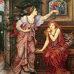 Queen Eleanor And Fair Rosamund, Evelyn De Morgan
