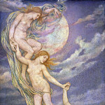 Moonbeams Dipping into the Sea, Evelyn De Morgan