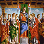 Liberale da Verona - St. Ursula with ten of her virgins