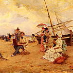 Francisco Miralles - The Artist Sketching On A Beach