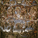 Michelangelo Buonarroti - Last Judgement (before restoration 1990-94)