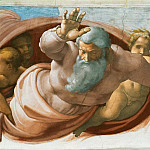Separation of the Earth from the Waters, Michelangelo Buonarroti
