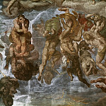 Michelangelo Buonarroti - Last Judgement (fragment, before restoration 1990-94)