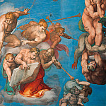 Michelangelo Buonarroti - Last Judgement (fragment, after restoration 1990-94)