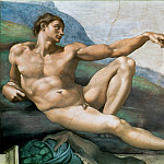 Creation of Adam , Michelangelo Buonarroti