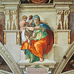 Antique world maps HQ - The Delphic Sibyl