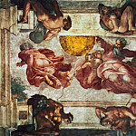 Michelangelo Buonarroti - Creation of the Sun and Moon