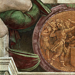 Michelangelo Buonarroti - Medallion - Destruction of the Statue of the God Baal