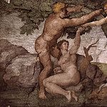 The Fall and Expulsion from Garden of Eden, Michelangelo Buonarroti