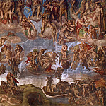 Jan Matejko - Last Judgement (fragment, before restoration 1990-94)