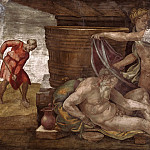 Drunkenness of Noah, Michelangelo Buonarroti