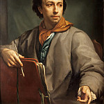 Johann August Nahl the Younger - Self Portrait