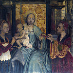 Quentin Massys - The Virgin and Child with Saints Barbara and Catherine