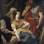 Ingeborg Receiving News of Hjalmar's Death from Orvar Odd, Johan August Malmström
