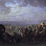 Johan August Malmström - The Battle of Bråvalla. Study