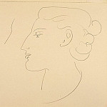 Henri Matisse - Woman in Profile (Turned to the Left), 1935, pencil