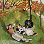 Henri Matisse - Two Figures Reclining in a Landscape, 1921, Barnes f