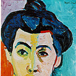 Henri Matisse - 1905 Portrait of Madame Matisse (Green Stripe)