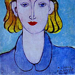 Henri Matisse - 1939 Young Woman in a Blue Blouse (Portrait of Lydia Delectorskaya, the Artists Secretary)