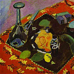 Henri Matisse - Dishes and Fruit on a Red and Black Carpet