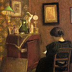 Henri Matisse - Woman Reading, 1894, oil on canvas, Musee National d