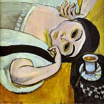 Henri Matisse - Laurettes Head with a Coffee Cup