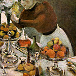 Henri Matisse - The Dinner Table, detail, 1897, oil on canvas, priva