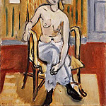 Henri Matisse - Seated Figure, Tan Room, 1918, Barnes foundation