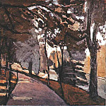 Henri Matisse - The path in the Bois de Boulogne, 1902, Oil on canva