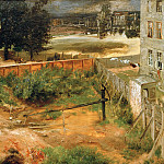 Louis Gallait - Courtyard near house