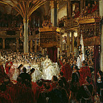 Wilhelm Camphausen - The Coronation of William I at Konigsberg in 1861