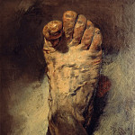 Hans Thoma - The foot of the artist
