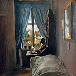 Eugene Joseph Verboeckhoven - The Artists Bedroom in Ritterstasse
