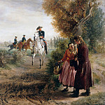 Friedrich Loos - The petition (The horse ride)