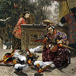 Andreas Achenbach - Chinese Women with Pheasants