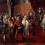 Friedrich Gauermann - The Allegiance of the Silesian Diet before Frederick II in Breslau