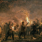 Wilhelm Camphausen - Students torchlight