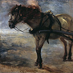 Franz Ludwig Catel - Harnessed horse