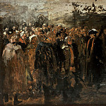 Adolph von Menzel - Speech of Frederick II to his generals before the battle of Marktleuthen 1757