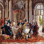 Adolph von Menzel - Frederick the Greats Dinner Party at Sanssouci