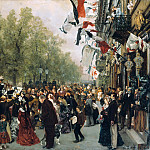 Alte und Neue Nationalgalerie (Berlin) - Departure of King Wilhelm I for the Front on July 31, 1870