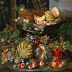 Trophime Bigot - Still Life with Flowers and Fruit (Attr)