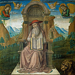 Pietro Perugino - Saint Jerome Enthroned