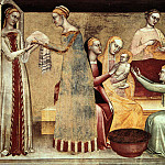 Джованни да Милано - Giovanni da Milano The birth of the virgin, 1365, Rinuccini