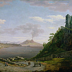 William Marlow - View of the Bay of Naples with Mount Vesuvius in the Distance