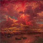 William Marlow - Vesuvius Erupting at Night