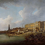 William Marlow - The London Riverfront from Westminster to the Adelphi