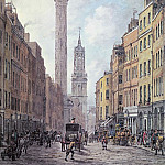 William Marlow - View of Fish Street Hill, Monument and St. Magnus the Martyr from Gracechurch Street, London